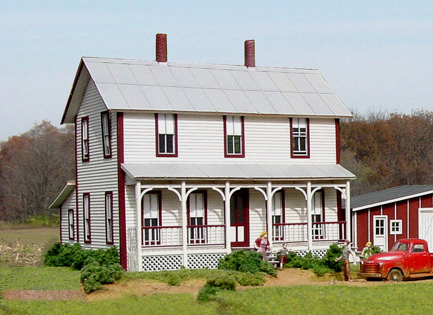 Ho scale structure kits for 2 story modern farmhouse